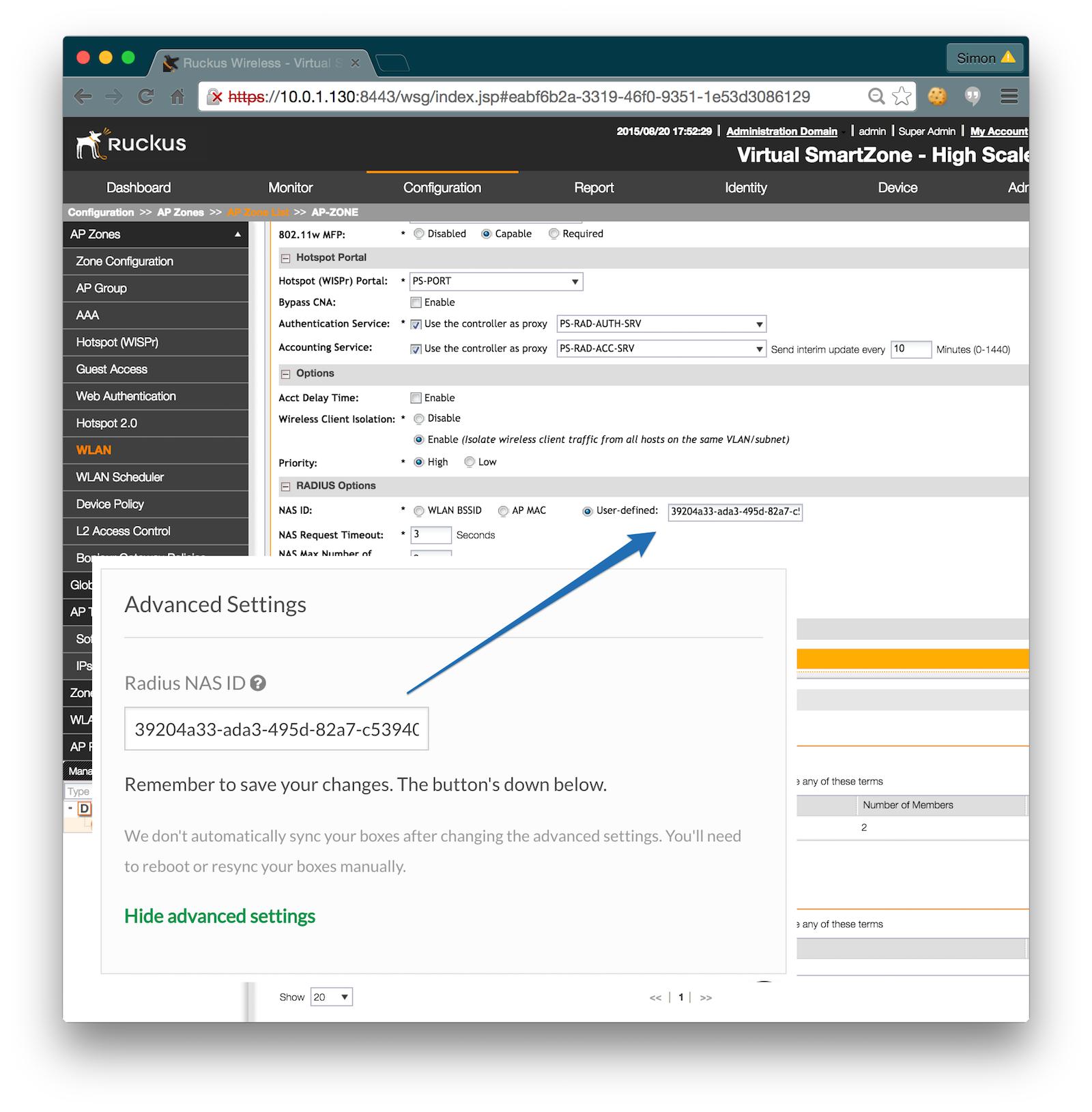 Ruckus Virtual SmartZone Captive Portal Integration